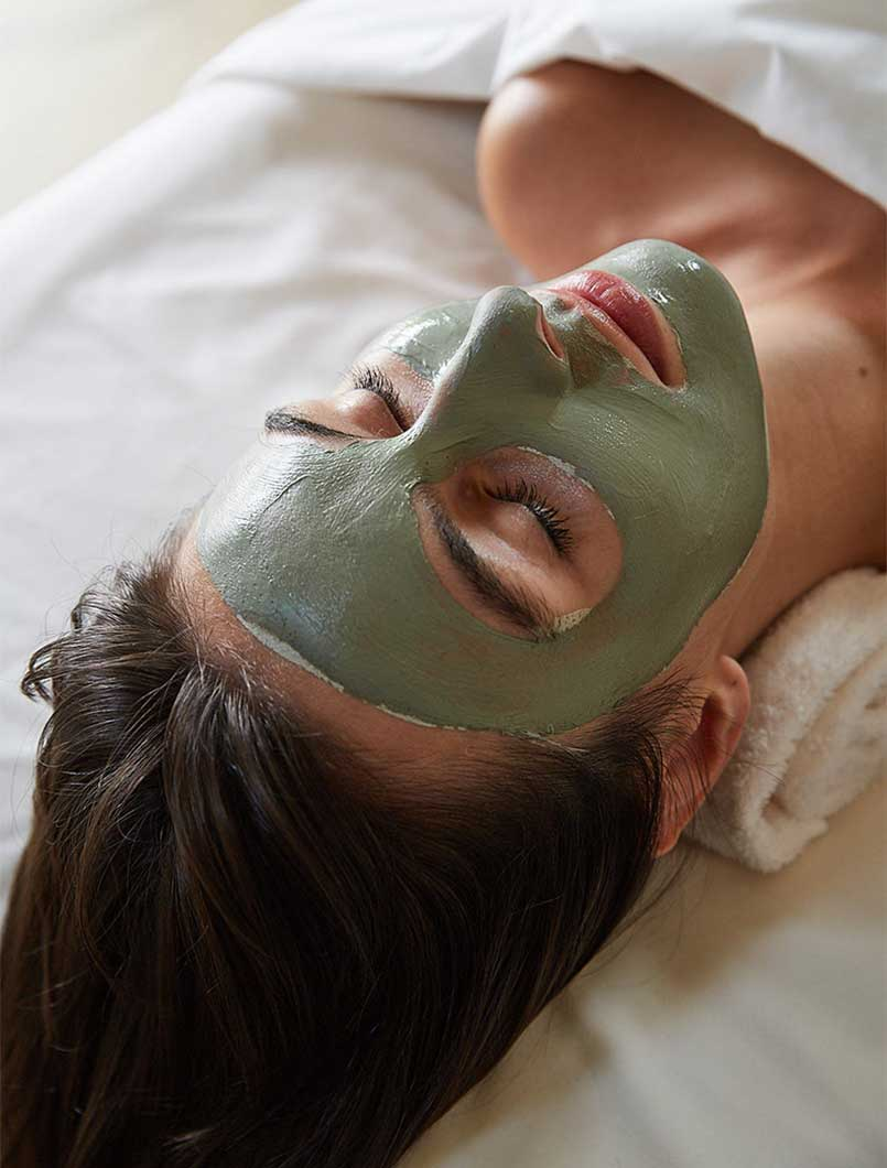 clay and botanically active facials