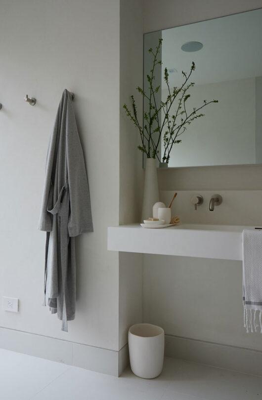 guest studio bathroom sink detail