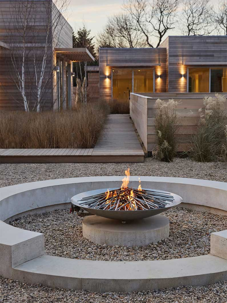 fire pit and guest studios